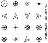 compass icon set | Shutterstock .eps vector #1012095763