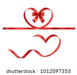 valentines day elements. vector ... | Shutterstock .eps vector #1012097353
