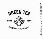 tea   vector logo icon... | Shutterstock .eps vector #1012102837