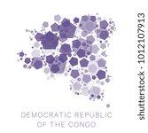 map of democratic republic of...   Shutterstock .eps vector #1012107913