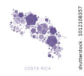 map of costa rica filled with...   Shutterstock .eps vector #1012108357
