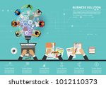 business concept for business... | Shutterstock .eps vector #1012110373