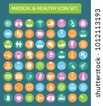 medical icon set design | Shutterstock .eps vector #1012113193