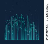future city skyline... | Shutterstock .eps vector #1012118533