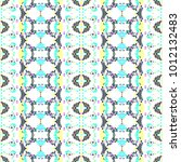 mosaic endless colorful pattern ... | Shutterstock . vector #1012132483