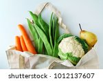 fresh organic vegetables | Shutterstock . vector #1012137607