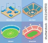 Sport Stadium Vector Isometric...