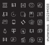 video icon thin line set... | Shutterstock .eps vector #1012144333