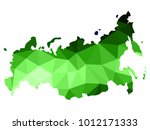 abstract russia map consists of ... | Shutterstock .eps vector #1012171333