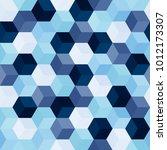 hexagon grid seamless vector... | Shutterstock .eps vector #1012173307
