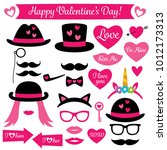 photo booth props for... | Shutterstock .eps vector #1012173313