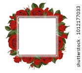 square greeting card on red and ...   Shutterstock .eps vector #1012177033