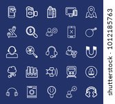 technology outline vector icon... | Shutterstock .eps vector #1012185763