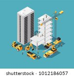 building construction vector 3d ... | Shutterstock .eps vector #1012186057