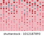 fade valentine heart dot... | Shutterstock .eps vector #1012187893
