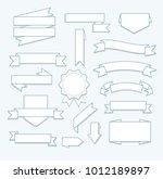 empty banners set | Shutterstock .eps vector #1012189897