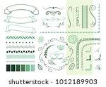 set of different vector... | Shutterstock .eps vector #1012189903