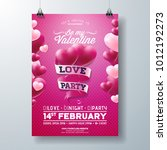 vector valentines day love... | Shutterstock .eps vector #1012192273