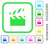 clapperboard vivid colored flat ...   Shutterstock .eps vector #1012203283
