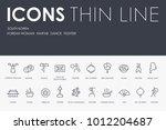 set of south korea thin line... | Shutterstock .eps vector #1012204687