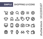 set of online shopping icons...