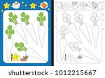 preschool worksheet for... | Shutterstock .eps vector #1012215667