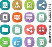 flat vector icon set   search... | Shutterstock .eps vector #1012215943