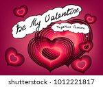 valentines day greeting card... | Shutterstock .eps vector #1012221817