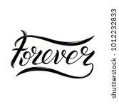 forever lettering for... | Shutterstock .eps vector #1012232833