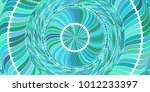 turquoise circles art action... | Shutterstock . vector #1012233397