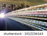 digital signals flying over...   Shutterstock . vector #1012236163