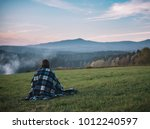 solitude woman and amazing... | Shutterstock . vector #1012240597