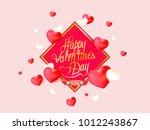 vector valentine's day card... | Shutterstock .eps vector #1012243867
