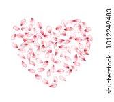 petals heart vector love and...   Shutterstock .eps vector #1012249483