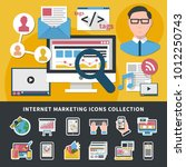 internet marketing icons... | Shutterstock .eps vector #1012250743