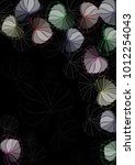 illustration of floral... | Shutterstock . vector #1012254043