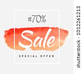 watercolor special offer  super ... | Shutterstock .eps vector #1012261213