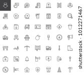 fire department line icons set  ... | Shutterstock .eps vector #1012271467