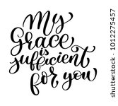 my grace is sufficient for you... | Shutterstock .eps vector #1012275457