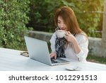 beautiful young teenage woman... | Shutterstock . vector #1012291513