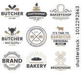 vintage retro vector logo for... | Shutterstock .eps vector #1012292863