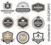 vintage retro vector logo for... | Shutterstock .eps vector #1012292893