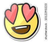 loving eyes emoji   emoticon... | Shutterstock .eps vector #1012293223