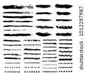 bold vector strokes. wave ... | Shutterstock .eps vector #1012297987