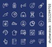 business outline vector icon... | Shutterstock .eps vector #1012299703