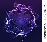 abstract vector background.... | Shutterstock .eps vector #1012302697