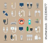 icon set about connectors... | Shutterstock .eps vector #1012304077