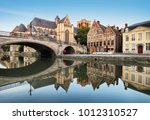 gent   medieval cathedral and... | Shutterstock . vector #1012310527