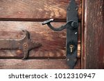 close up   iron loops and... | Shutterstock . vector #1012310947