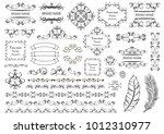 big set of vector graphic... | Shutterstock .eps vector #1012310977
